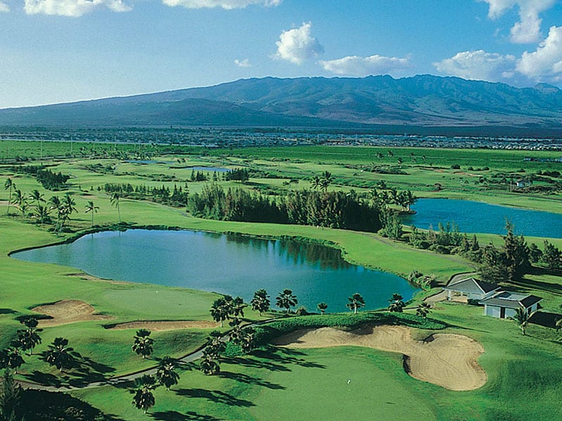 Aerial view of Golf Course.