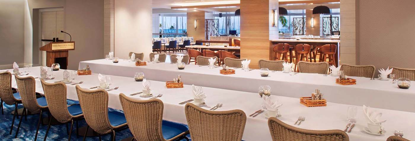 100 Sails - Private Dining room.