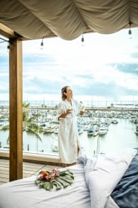 Photo of a Woman Relaxing at Naio Bliss, a Must-Do Oahu Itinerary Activity.