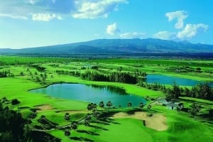 Aerial View of Hawaii Prince Golf Club, a Must for any Oahu Itinerary.