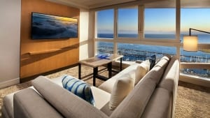 A hotel suite to return to after enjoying Waikiki activities.