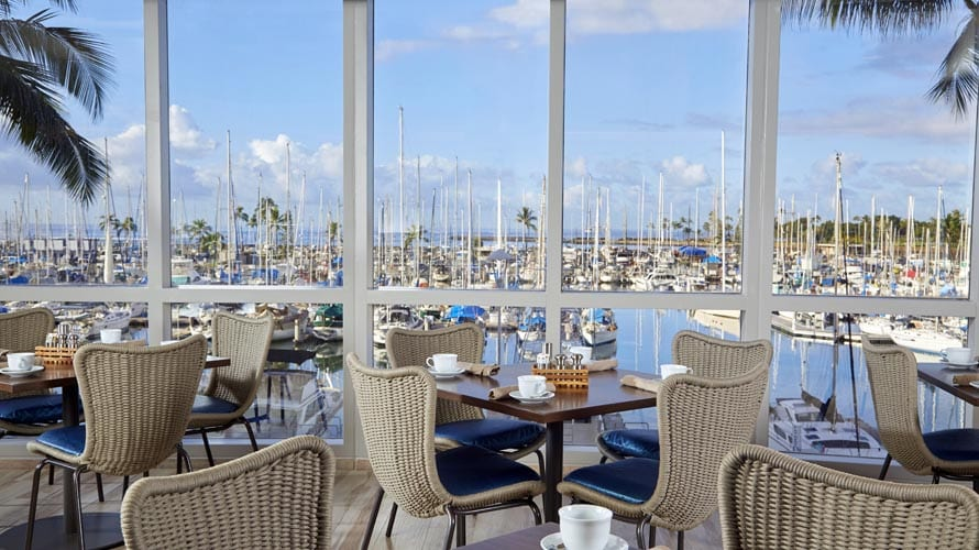 100 Sails dining room view.