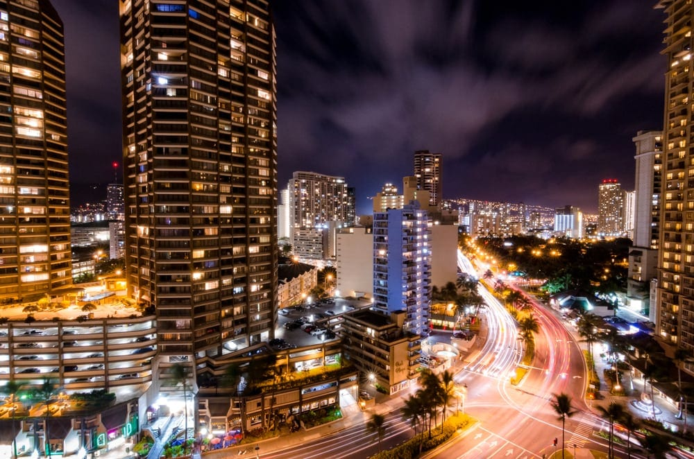 Honolulu at night.