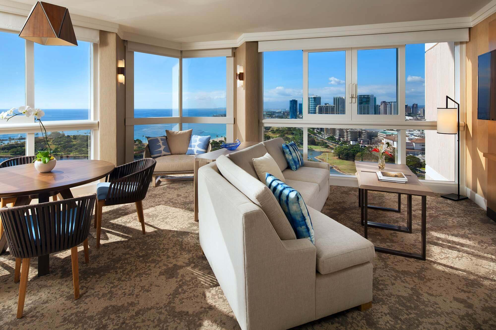 OceanFront Suite - living room.