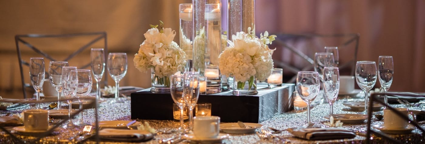 Wedding tablesetting.