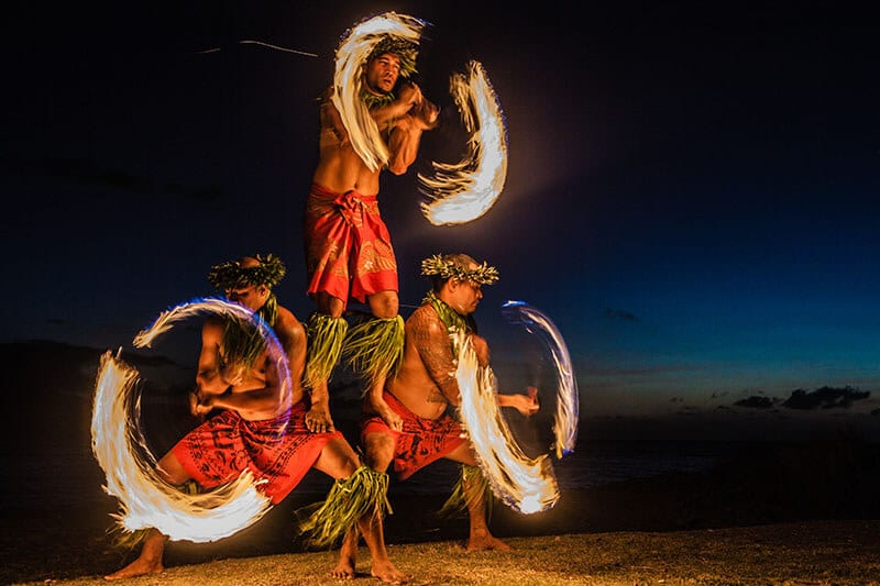 Hawaiian Fire dancers.