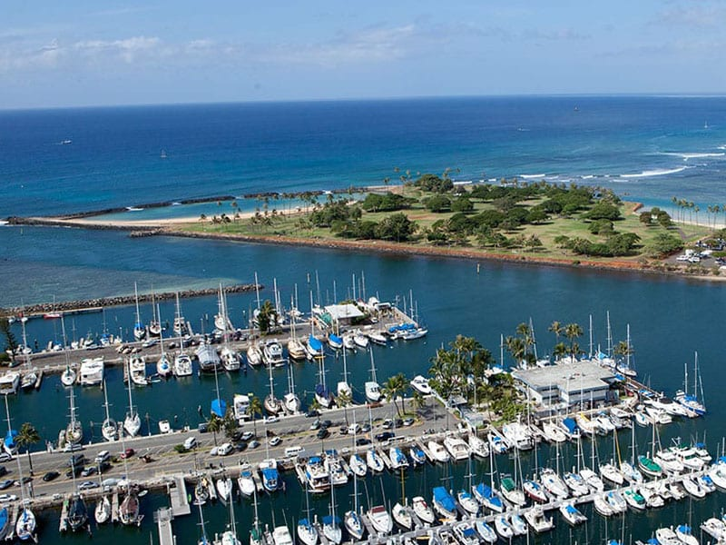 View of Yacht Harbor.