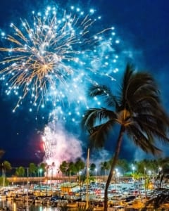 Photo of the Friday Night Fireworks After a Massage in Waikiki