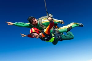 Photo of Two People Skydiving in Oahu Hawaii