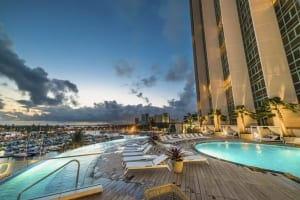 Photo of Prince's Infinity Pool after Dark, Just Minutes away from a Bevy of Recreational Activities.